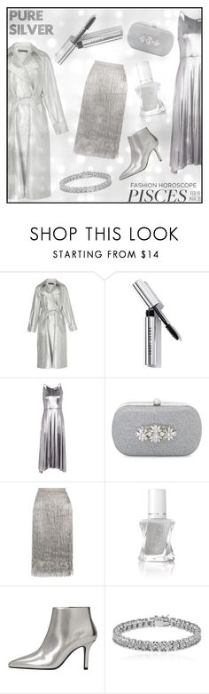 """""""Pisces A/W '17-18: Silver Lining"""" by manicurelover ❤ liked on Polyvore featuring Martin Grant, Bobbi Brown Cosmetics, Halston Heritage, Badgley Mischka, Rachel Zoe, MANGO and Apples & Figs"""