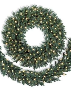 the vibrant color of our norway spruce wreath and garland will liven up even the coldest - White Spruce Christmas Tree
