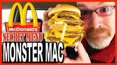 McDonald's ★Secret Menu Item★ MONSTER MAC Challenge By My Friend Ken Domik!