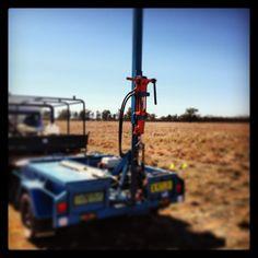 Hydraulic soil coring near Narromine NSW in April 2013
