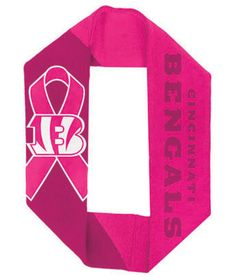 NFL Pink Infinity Scarves - Cincinnati Bengals - Breast Cancer Awareness