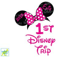 First Trip to Disney Minnie Ears Printable Iron by TheWallabyWay