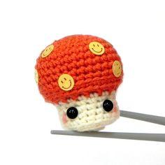 Amigurumi  Happy Mushroom MochiQtie  Crochet by MochiQtie on Etsy