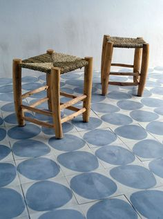 Stone, cement tiles handmade in Morocco, designed by Claesson Koivisto Rune, a Swedish architecture and design firm. Available in several colours. | http://www.claessonkoivistorune.se/?category=design,surface#/projects/stone/