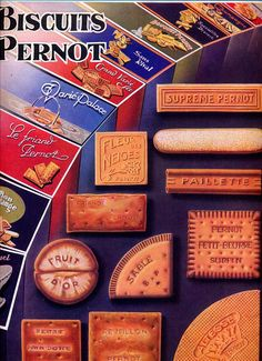 Biscuits Pernot advertising vintage poster A3 old by OldMag