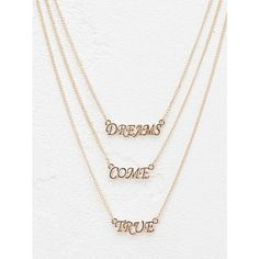 Three Layers Letter Pendant Necklace ($2.32) ❤ liked on Polyvore featuring jewelry, necklaces, multi layer necklace, layered jewelry, initial pendant necklace, initial jewelry and layered necklace