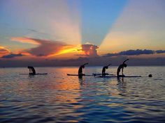 How would you spend your sunset? SUP Yoga? @fourseasons #maldives #kudahuraa #fsmaldives #yoga #sunset #sundaysunset