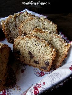Caru's Bakery: Plumcake miele, avena e cioccolato fondente