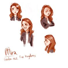 I imagined her with brown hair... doesn't the book say that?