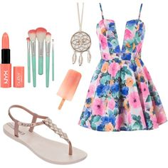 Untitled #1 by beliicontrabas on Polyvore featuring polyvore fashion style IPANEMA Full Tilt NYX