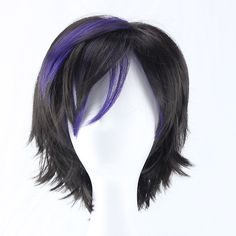 Costume Wigs, Cosplay Wigs, Anime Cosplay, Gogo Tomago Cosplay, Summer Hairstyles, Cute Hairstyles, Wig Styles, Short Hair Styles, Purple Wig
