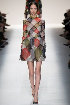Valentino Fall 2014 - love how the shoe pattern matches the dress!