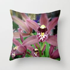 Orchid Throw Pillow by Post Haste Art - $20.00