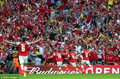 Scenes! That end of Wembley descended into bedlam the moment Ramsey's strike hit the back the net FA cup 2013/14 final