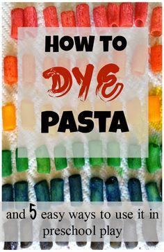 Un-toy Friday: Pasta and activities for preschoolers