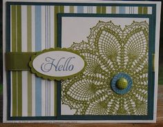 doily card-stampin' up