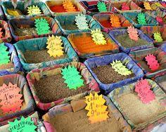 Spices, farmer's market, Nice, France