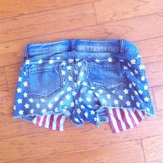 4th of July Shorts The most comfortable jean material you will ever feel Xhilaration Jeans