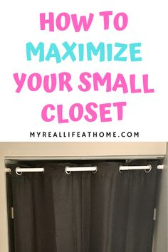 Check out these tips to maximize storage for your small closet. #smallcloset #diystorage #organization #bedroomstorage #closetstorage #closettips #closethacks #storagetips #homeorganization #organizing