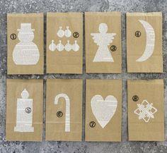 Advent Calander, Diy Advent Calendar, Very Merry Christmas, Christmas Cards, Xmas, Perler Beads, Diy Cards, Easy Diy, Simple Diy