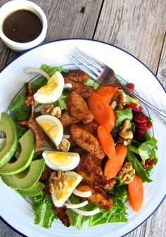 ThreeDietsOneDinner - Paleo Recipes to fit every diet - Paleo Weight Loss - Optimal Nutrition: SPICY HALIBUT COBB SALAD