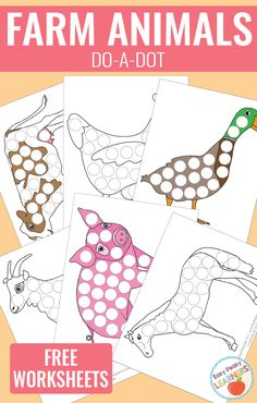 Lovely Farm Animals - Do a Dot Printables