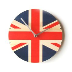 Objectify Union Jack National Flag Clock by ObjectifyHomeware The Cross Of Christ, Wood Clocks, Union Jack, National Flag, Great Britain, My Dream Home, Cool Things To Buy, Illustration Art, Cool Stuff