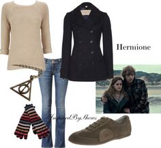 Hermione-Harry Potter (This is during Deathly Hallows. Another Hermione outfit will come soon.)