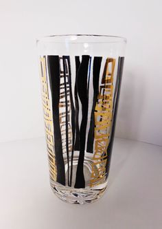 Modernist Set 4 Abstract Designed Large Weighted Glass Tumblers (sold) http://www.ebay.com/itm/261765234712?ssPageName=STRK:MESELX:IT&_trksid=p3984.m1558.l2649