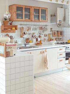 Kitchen Sets, Home Decor Kitchen, Home Kitchens, Home Room Design, Interior Design Kitchen, Small House Design, Minimalist Room, Aesthetic Room Decor, Apartment Interior