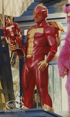 "Arnold Schwarzenegger as ""Turbo Man"" in JINGLE ALL THE WAY."