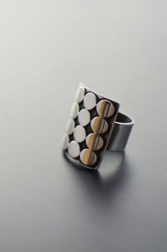 Sterling Silver Ring, Modern Ring, Statement, Mid Century, Brutalist, Contemporary Jewelry, 12 POINTS It is a very strong ring, solid sterling