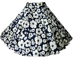 Pikulla Women's 50s Blue Ivory Floral Swing Rockabilly Skirt Full Circle One Size SML ** Details can be found by clicking on the image.