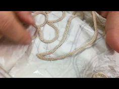Anglez kordonunun desen üzerine dikimi 2 (renkli ip) - YouTube Irish Crochet Patterns, Romanian Lace, Crochet Cord, Popular Crafts, Burlap Flowers, Diy Keychain, Needle Lace, Cutwork, Embroidery Stitches