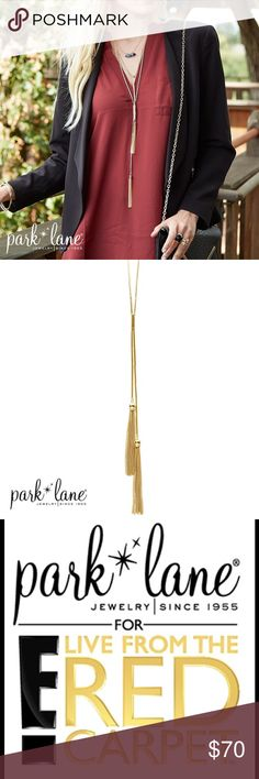 """VINEYARD NECKLACE VINEYARD NECKLACE  Varying length tassels suspended in a fluid, y-style design, make this necklace perfect for the season`s hottest layering trends! 24"""" + 3"""" Park Lane Jewelry Necklaces"""