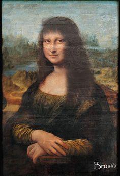 Brus© Mona Lisa, Hair Makeup, Walls, Contemporary, Paper, Artwork, Work Of Art, Auguste Rodin Artwork, Party Hairstyles