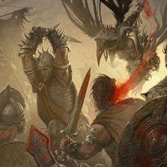 The Art of War – HD Fantasy Battle Scene Wallpapers