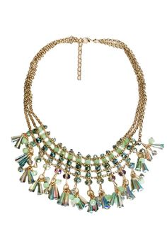 This pretty beaded bib necklace is the perfect statement piece! Pair with a simple dress and sandals for the perfect casual spring look! Dress this up or down.  Beaded Bib Necklace by Glam Squad Shop. Accessories - Jewelry - Necklaces - Statement Necklaces Las Vegas