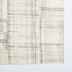 Cotton Canvas Etched Grid Curtain - Slate #westelm Curtains for office, I only thought of curtains to warm up the space.