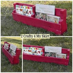 2 Crafty 4 My Skirt: How To Make Pallet Bookshelves