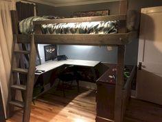 Build Our Loft Bed Kids Baby Stuff Loft Bed Plans Bedroom Room