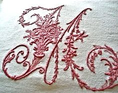 French Metis linen embroidery by BurgandyDelights on Etsy