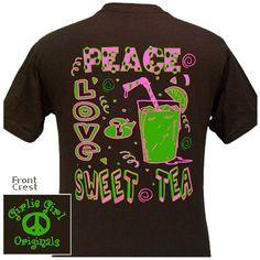 edbff7f7 Girlie Girl Original T's Sweet Tea $16.95 Girly Girl Shirts, Shirts For  Girls, Simply