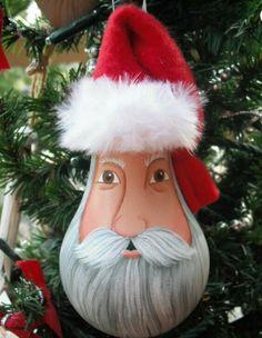 Santa Claus lightbulb ornament