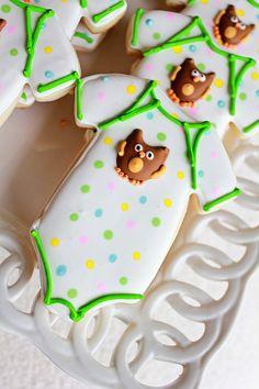Owl Baby Onsie Cookies