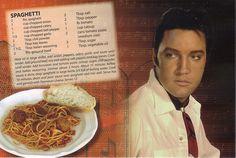 elvis presley recipes -Spaghetti