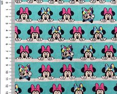 Minnie Mouse Stripe Cotton Fabric Sew Over It Patterns, New Look Patterns, Simplicity Patterns, Sewing Patterns, Fleece Fabric, Cotton Fabric, Christmas Fabric Crafts, Tilly And The Buttons, Disney Fabric