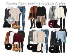 """""""Davina Claire Inspired Holidays Outfits"""" by staystronng ❤ liked on Polyvore"""