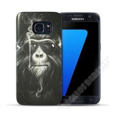 Carcasa divertida diseño mono fumando para tu móvil Galaxy S7 Edge