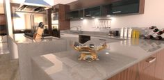 A kitchen interior rendered in KeyShot